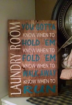 Laundry room wood sign by LoveEverythingRustic on Etsy https://www.etsy.com/listing/264437481/laundry-room-wood-sign