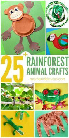 25+ Rainforest Animal Crafts for Kids