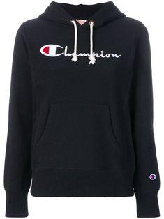 Champion Reverse Weave Pullover Hoodie In Black Hoodies, Sweatshirts, Black Hoodie, Black Cotton, Size Clothing, Black Women, Champion, Weaving, Women Wear