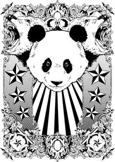 Panda Art Print by Tshirt-Factory | Society6