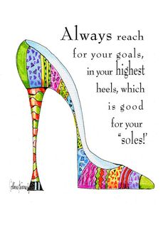 Original illustrated shoe art print with soleful by VanityGallery