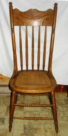 Antique Wood Carved Rose Floral Rest Back Sabre Leg Style Dining Desk Chair 2 Queenanne