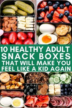 Check out this list of 10 healthy snack boxes. Some of the best healthy snack ideas to pack in your work lunch or bring on a trip. These healthy portable snack ideas will please adults and make them feel like a kid with a lunchable again. Lunch Snacks, Snack Boxes Healthy, Snacks For Work, Healthy Snacks To Buy, Snacks Ideas, Healthy Lunches For Work, Lunch Boxes For Work, School Snacks, Lunch Box Ideas For Adults Healthy