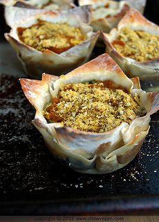 Pumpkin Lasagna Cupcakes by chow vegan, via Flickr