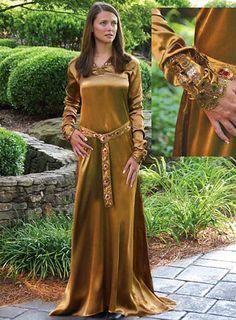 Este es un tipo de vestimenta medieval de mujer
