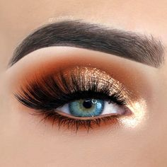 Contrast Makeup with Copper Hues picture 3