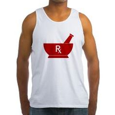 Red Mortar and Pestle Rx Men's Tank Top
