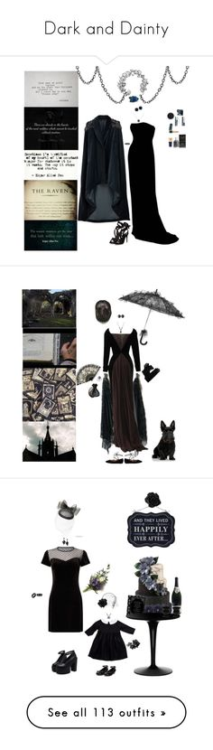 """""""Dark and Dainty"""" by blackmagicmomma ❤ liked on Polyvore featuring Veil London, Jesus Del Pozo, Effy Jewelry, Dolce Giavonna, MAKE UP FOR EVER, Estée Lauder, Christian Dior, Yves Saint Laurent, Oribe and Gianfranco Ferré"""