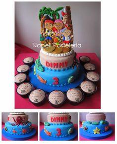 Torta doble Jake y los piratas. Cake jake and the pirates