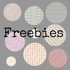 Freebies para ti : Freebies: 20  botones con papeles preciosos
