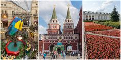 Moskovan Punaisen torin ympäristöä ja VDNH, Trans-Siperia autolla 15-17.6.2016