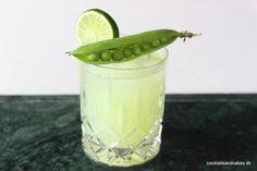 Opskrift på sommerdrink med gin og ærter