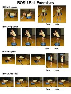 BOSU Ball Workout. I want to use this thing!