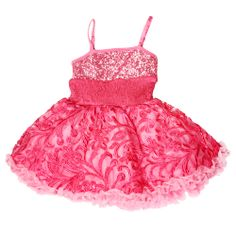 Ooh La La Couture Candy Pink Stunning Embroidered ``WoW`` Pouf DressSizes 4 - 10