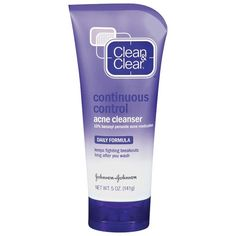 Clean & Clear Continuous Control Acne Cleanser ($4.99) ❤ liked on Polyvore featuring beauty products, skincare, face care, face cleansers, beauty, facial cleansers, skin care, clean clear face wash, oil free face wash and fragrance free face wash