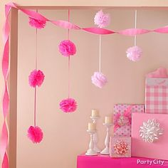 Sot pinks, white and cream - would work with grey walls.