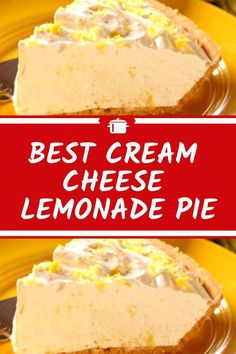 ) packages of cream cheese, at room temperature 1 oz.) can of evaporated milk Lemon Dessert Recipes, Lemon Recipes, Cheesecake Recipes, Pie Recipes, Delicious Desserts, Family Recipes, Cook Desserts, Lemon Cheesecake, Pastry Recipes