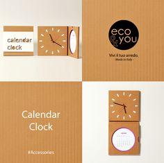 You can find our Calendar Clock here:  http://eco-and-you.com/shop/calendar-clock/  Calendar Clock, dalla nostra linea #Accessories, è adatto sia alla #casa che all' #ufficio e come idea #regalo per i vostri amici con un'anima #green.  #Design#Calendar #Clock for #Home and #Office   #ecoDesign #Eco #Cardboard   #Calendario #Orologio in #Cartone ondulato