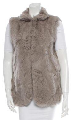 Adrienne Landau Grey Rabbit Fur Warm Vest Size 8 (M) Rabbit Fur Coat, Confident, Zero, Luxury Fashion, Autumn Fashion, Pockets, Technology, Money, Ebay