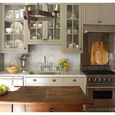 """in the Charleston Gray colour.  """"Cabinet color- farrow and ball, charleston gray"""""""