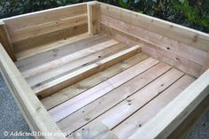 how to build an elevated garden bed table 18