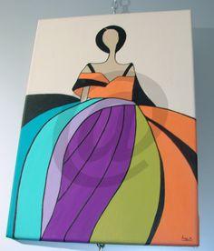 cuadro pintado a mano con acrilicos