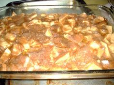 "Grandma Geldner s Apfel Kuchen (Apple Kuchen) from Food.com:   								This comes from a rich German heritage.  Grandma always made the best ""apfel"" kuchen.  Her recipes were always simple, but tasted great!"
