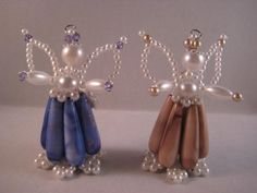Christmas Crafts, Xmas, Christmas Ornaments, Bead Crafts, Diy And Crafts, Safety Pin Crafts, Beaded Angels, Jewelery, Beaded Bracelets