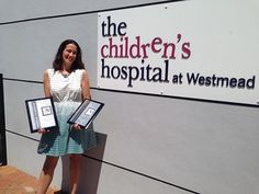 Photo: Here's a quick piccie of me with the #BestBook and #MostSponsorship awards I received yesterday at Westmead Children's Hospital for the high-action sci fi YA novel that my amazing Northern Beaches Writers' Group wrote for WABIAD this year. Our fund-raising efforts helped buy medicines and equipment for The Kids Cancer Project. So worthwhile!