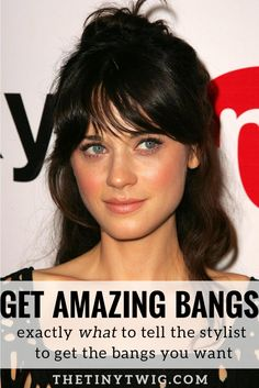 Complete instructions to give your stylist. These secrets are from a hairstylist in language and pictures you'll understand. It's the secret to getting amazing bangs.