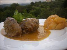 #recetas de #carrilleras de #cerdo al vino tinto con manzana caramelizada #recipes