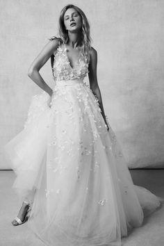 Sachin & Babi Tulle Wedding Dress