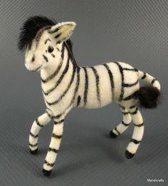 #Wagner Germany #Zebra Wool #Flocked 1990s Kunstlerschutz Putz Figure Label Fur Mane New Old Stock