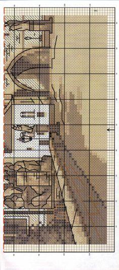 Gallery.ru / Фото #3 - Карлов мост в коричневых тонах, Прага - DELERJE **PRAGUE chart 2 ************ Chrochet, Culture Travel, Rubrics, Utility Pole, Mythology, Cross Stitch, History, Architecture, City