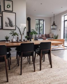 open plan kitchen diner with seating area. - open plan kitchen diner with seating area. Dining Room Walls, Dining Room Design, Dining Area, Dining Chairs, Small Dining, Room Chairs, Dining Room Inspiration, Home Decor Inspiration, Nails Inspiration