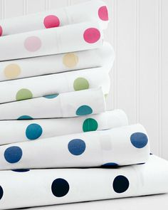 Dot to Dot Percale Bedding Garnet Hill - $84 for set (2 cases)