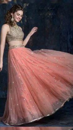 Party Wear Indian Dresses, Designer Party Wear Dresses, Party Wear Lehenga, Indian Gowns Dresses, Indian Bridal Outfits, Dress Indian Style, Indian Fashion Dresses, Designer Indian Dresses, Indian Wedding Dresses