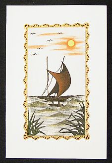 34 best greeting cards images on pinterest greeting cards handmade hand painted greeting card fishing boat m4hsunfo