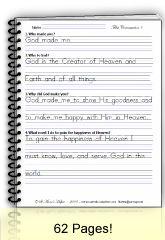 First Communion Manuscript Copybook