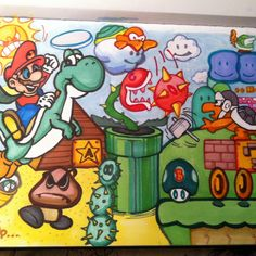 #Mario drawing for my girl's younger nephew. Mainly Mario Bros 3 inspired (my fav Mario growing up)