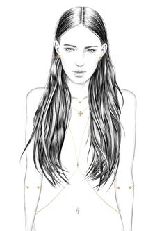 Florian Meacci Illustration for Sarah Noor Jewellery