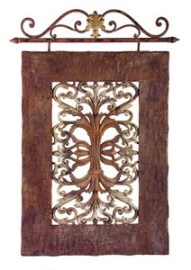 Casa Lucia Tuscan Wall Decor - Find it at: http://www.tuscanhomedecorandmore.com/casa-lucia-tuscan-wall-decor-hangs-from-a-scrolled-iron-rod/