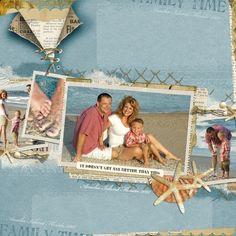 Digital scrapbooking...Good idea for scrapbooking our beach trips!