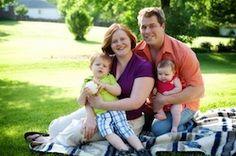 The elusive white family in its native suburban habitat.