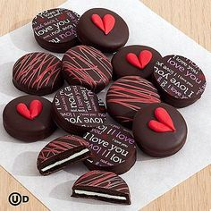 Valentine's Dark Chocolate Covered Oreo® Cookies and other chocolates & gifts at berries.com