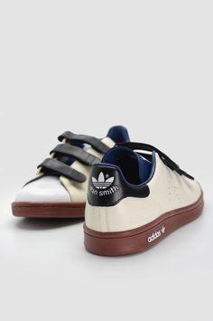 ADIDAS X RAF SIMONS Triple Strap Cream White Stan Smith Sneakers.