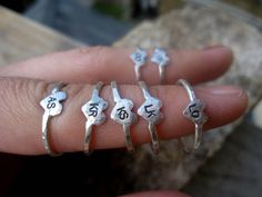 "Rings with all your bridesmaids' initials for them to wear during the wedding on their right hand, for your ""right hand girls"""