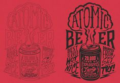 Atomic Beer by Overloaded design, via Behance