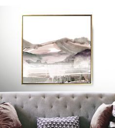Large Landscape Painting, Large wall art, Large Abstract Painting, Printable Art, Blush Pink Art, Landscape Print, 40x40 Print, Modern Art by DanHobdayArt on Etsy Abstract Landscape Painting, Landscape Prints, Landscape Paintings, Pink Wall Art, Pink Art, Modern Wall Art, Large Wall Art, Artwork Prints, Fine Art Prints