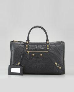 Balenciaga Giant 12 Golden Work Bag, Black - Neiman Marcus